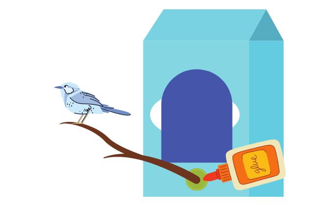 build a bird feeder - step five
