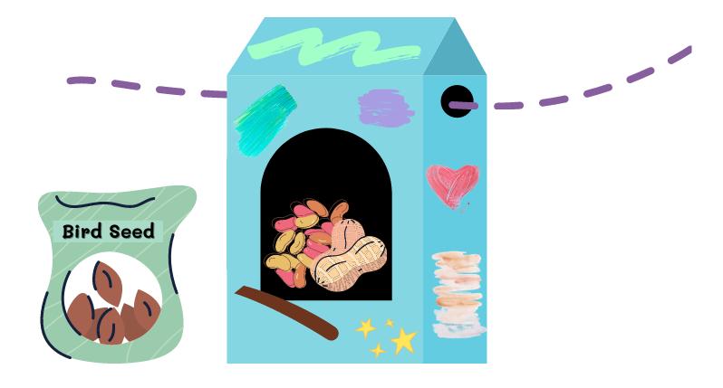 build a bird feeder - step eight