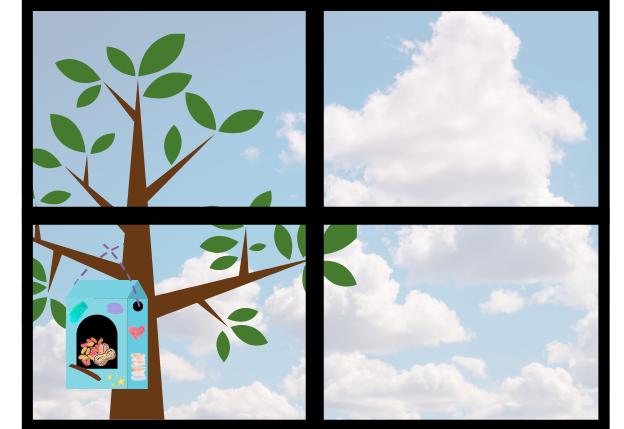 build a bird feeder - step nine